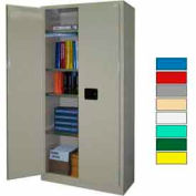 Securall® 36x18x72 Self-Latch Industrial Cabinet Gray