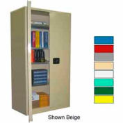 Securall® 36x24x72 Self-Latch Industrial Cabinet Ag Green