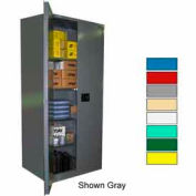 Securall® 36x24x84 Self-Latch Industrial Cabinet Ag Green