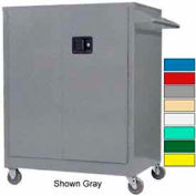 Securall® Self-Latch Mobile Counter High Industrial Cabinet Blue