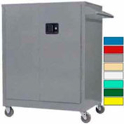 Securall® Self-Latch Mobile Counter High Industrial Cabinet Gray