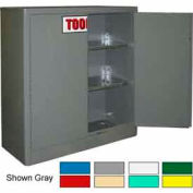 Securall® 43 x 18 x 44 Self-Latch Tooling Cabinet Ag Green