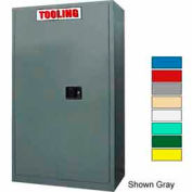 Securall® 43 x 18 x 65 Self-Latch Tooling Cabinet Md Green