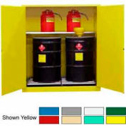 Securall® 120-Gallon, Manual Close,Vertical Flammable Drum Cabinet Ag Green