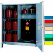 Securall® 115-Gallon, Manual Close, Vertical Flammable Drum Cabinet Gray