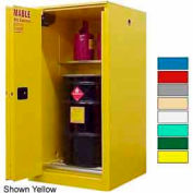 Securall® 65-Gallon, Sliding Door, Vertical Flammable Drum Cabinet Blue