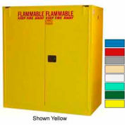 Securall® 120-Gallon, Self Close, Vertical Flammable Drum Cabinet Ag Green