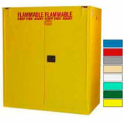 Securall® 120-Gallon, Self Close, Vertical Flammable Drum Cabinet Yellow