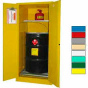 Securall® 60-Gallon, Manual Close, Haz Waste Drum Storage Cabinet Yellow