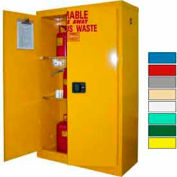 Securall® 45-Gallon, Manual Close, Haz Waste Safety Can Cabinet Yellow