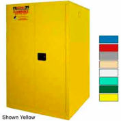 Securall® 75-Gallon, Manual Close, Haz Waste Drum Storage Cabinet Ag Green