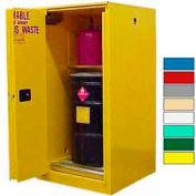 Securall® 60-Gallon, Sliding Door, Haz Waste Drum Storage Cabinet Yellow