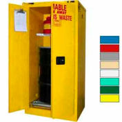 Securall® 60-Gallon, Self Close,Hazardous Waste Drum Storage Cabinet Yellow