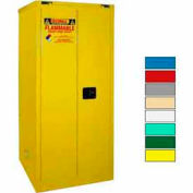 Securall® 120-Gallon, Sliding Door, Haz Waste Drum Storage Cabinet Yellow