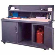 Securall® 73 Wx33 Dx 57-1/2H Mobile Work Bench/Cabinet