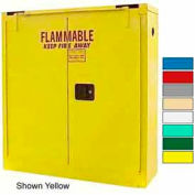 Securall® 24-Gallon Self-Close, Wall-Mounted Flammable Cabinet Red