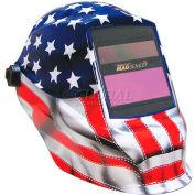 Sellstrom® Trident™ Welding Helmet W/27611 Impulse MagSense™ Var Shade, Old Glory