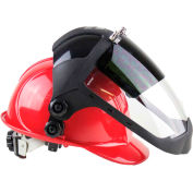 Sellstrom® S32252 DP4 Series Hard Hat Faceshield W/ Chin Guard, Shade 5 IR, AF Flip-Up Window