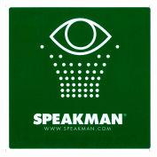 Speakman Emergency Eyewash Sign - Emergency Shower Ad Eyewash Test Kit, SGN1, Green & White