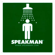 Speakman Emergency Eyewash Sign - Universal Green And White Safety Shower Sign, SGN2, Green & White