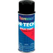 Hi-Tech Enamel 16 Oz. Flat Black 6 Cans/Case - 16-133