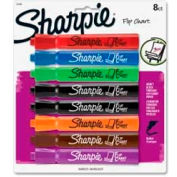 Sharpie® Flip Chart Marker, Bullet Point, Bleed Resistant, Assorted Ink, 8/Pack