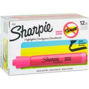 Sharpie® Accent Tank Highlighter, Smear Guard, Chisel Tip, Fluorescent Pink Ink - Pkg Qty 12