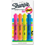 Sharpie® Accent Tank Highlighter, Nontoxic, Chisel Tip, Yellow/Orange/Blue/Pink Ink, 4/Pack