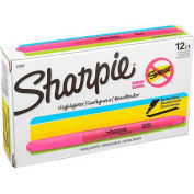Sharpie® Accent Highlighter, Narrow Chisel Tip, Nontoxic, Pink Ink - Pkg Qty 12