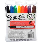 Sharpie® Pen Style Permanent Marker, Fine Point, Assorted Ink, 8/Set