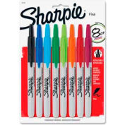 Sharpie® Retractable Permanent Marker, Fine Point, Assorted Ink, 8/Set