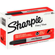 Sharpie® Super Permanent Marker, Fine Point, Black Ink - Pkg Qty 12
