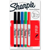 Sharpie® Permanent Marker, Waterproof, Ultra Fine, Assorted Ink, 5/Pack