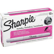 Sharpie® Metallic Permanent Marker, Fine, Metallic Silver Ink - Pkg Qty 12