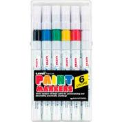 Sanford® Uni Paint Marker, Oil-Based, Fine, Assorted Ink, 6/Set