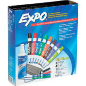 Sanford® Expo Low Odor Dry Erase Marker Kit, Assorted Ink, 12/Set