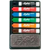 Sanford® Expo Low Odor Dry Erase Marker Organizer Kit, Chisel Tip, Assorted Ink, 6/Set