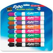 Sanford® Expo Low Odor Dry Erase Marker, Chisel Tip, Assorted Ink, 16/Set