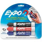 Sanford® Expo Mark Away Eraser Marker/Eraser, Black/Blue/Red Ink