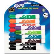 Sanford® Expo Dry Erase Marker, Chisel Tip, Assorted Ink, 12/Set