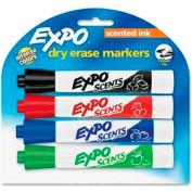 Sanford® Expo Scented Whiteboard Marker, Black/Blue/Red/Green Ink, 4/Set
