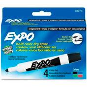 Sanford® Expo Dry Erase Marker, Bullet Point, Assorted Ink, 4/Set