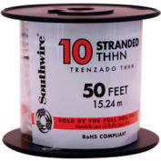 Southwire 22974036 Simpull Thhn Or Thwn-2, 10 Gauge Thhn Stranded Wire, White, 50 Ft. Per Roll