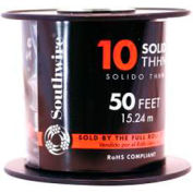 Southwire 11597217 Simpull Thhn Or Thwn-2, 10 Gauge Thhn Solid Wire, Red, 50 Ft. Per Roll