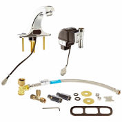 Zurn Aquasense Battery Powered Sensor Operated Bathroom Faucet With Mixing Tee And 4 In.
