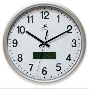 "Infinity/Itc 14113Sv-3182  Datekeeper Wall Clock - 13-1/2"" Diameter"