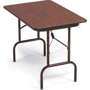 "Correll Mini Folding Table - 36X24"" - Walnut Top/Brown Frame"
