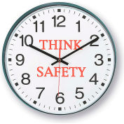 "Infinity/Itc 90/00Ts-1  Message Clock - 12"" Diameter - Think Safety"