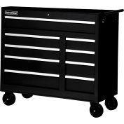 """SPG International WRB-4209BK 42"""" 9-Drawer Roller Cabinet W/ Ball Bearing Slides, Black"""