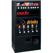 Seaga GEC95 - Vending Machine, 9/5 Combination, 9 Snacks Over 5 Refrigerated Beverages